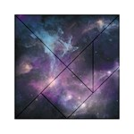 Blue Galaxy  Acrylic Tangram Puzzle (6  x 6 ) Front