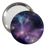 Blue Galaxy  3  Handbag Mirrors Front