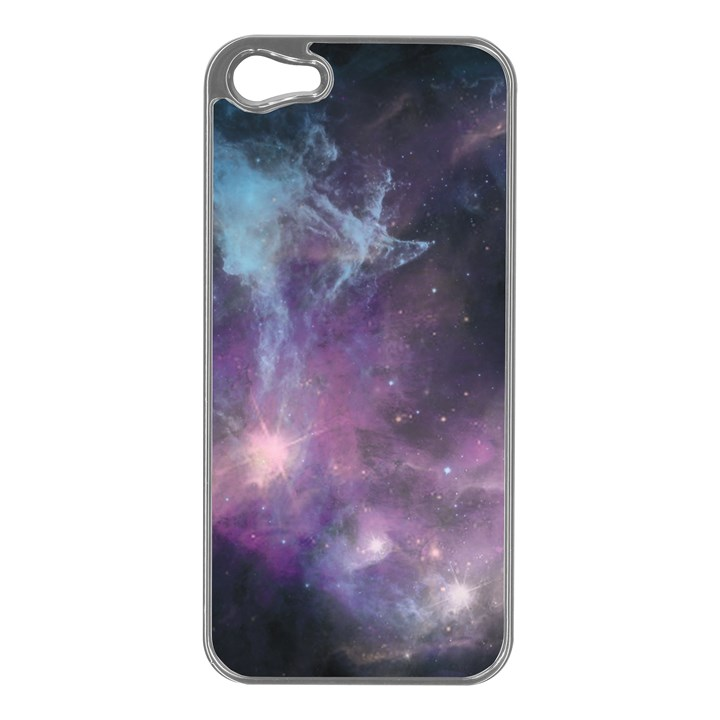 Blue Galaxy  Apple iPhone 5 Case (Silver)