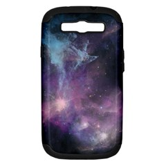 Blue Galaxy  Samsung Galaxy S III Hardshell Case (PC+Silicone)