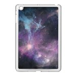Blue Galaxy  Apple iPad Mini Case (White) Front