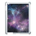 Blue Galaxy  Apple iPad 3/4 Case (White) Front