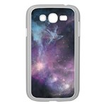 Blue Galaxy  Samsung Galaxy Grand DUOS I9082 Case (White) Front
