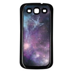 Blue Galaxy  Samsung Galaxy S3 Back Case (Black)