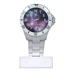 Blue Galaxy  Plastic Nurses Watch