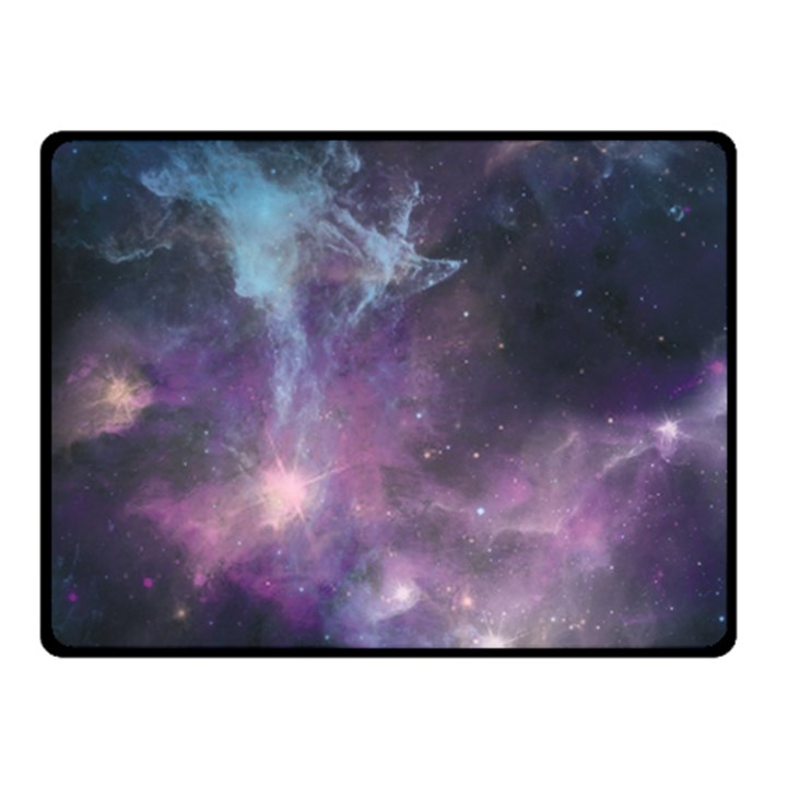 Blue Galaxy  Double Sided Fleece Blanket (Small)
