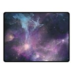Blue Galaxy  Double Sided Fleece Blanket (Small)  50 x40 Blanket Back