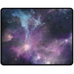 Blue Galaxy  Double Sided Fleece Blanket (Medium)  60 x50 Blanket Front