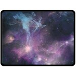 Blue Galaxy  Double Sided Fleece Blanket (Large)  80 x60 Blanket Back