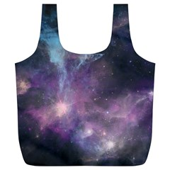 Blue Galaxy  Full Print Recycle Bags (l)