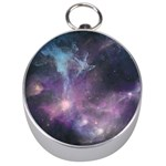 Blue Galaxy  Silver Compasses Front