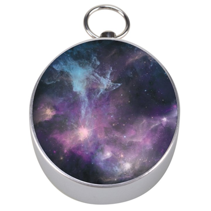 Blue Galaxy  Silver Compasses