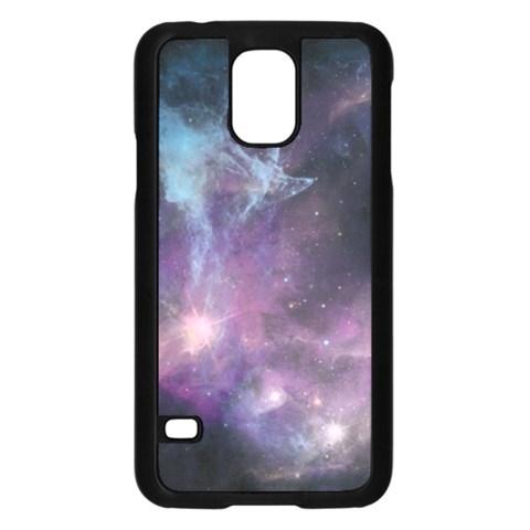 Blue Galaxy  Samsung Galaxy S5 Case (Black)