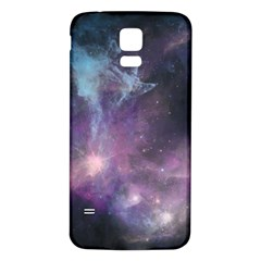 Blue Galaxy  Samsung Galaxy S5 Back Case (White)