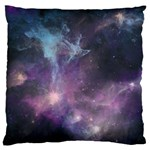 Blue Galaxy  Large Flano Cushion Case (One Side) Front