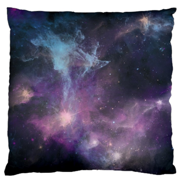 Blue Galaxy  Large Flano Cushion Case (Two Sides)