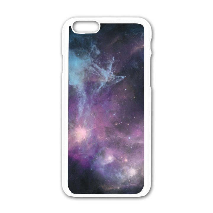 Blue Galaxy  Apple iPhone 6/6S White Enamel Case