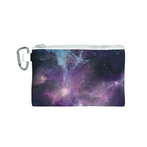 Blue Galaxy  Canvas Cosmetic Bag (S)
