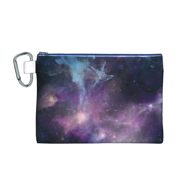 Blue Galaxy  Canvas Cosmetic Bag (M)