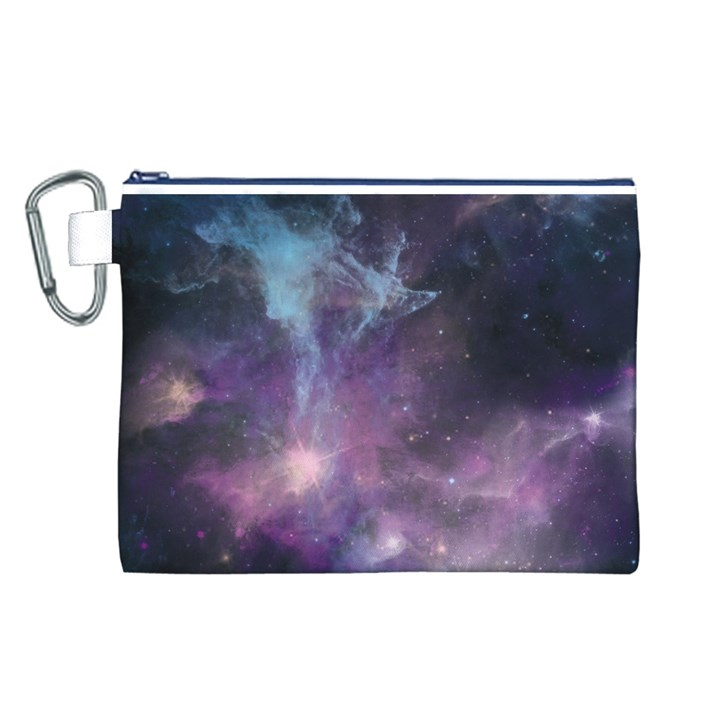 Blue Galaxy  Canvas Cosmetic Bag (L)