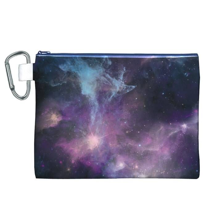 Blue Galaxy  Canvas Cosmetic Bag (XL)