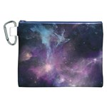 Blue Galaxy  Canvas Cosmetic Bag (XXL) Front