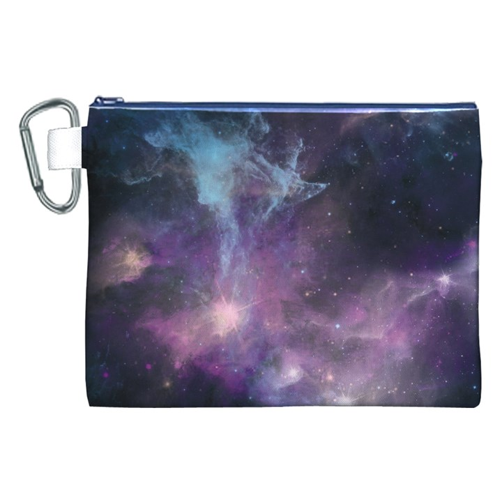 Blue Galaxy  Canvas Cosmetic Bag (XXL)