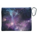 Blue Galaxy  Canvas Cosmetic Bag (XXL) Back