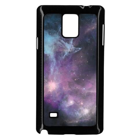 Blue Galaxy  Samsung Galaxy Note 4 Case (Black)