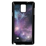 Blue Galaxy  Samsung Galaxy Note 4 Case (Black) Front