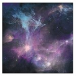 Blue Galaxy  Large Satin Scarf (Square) Front