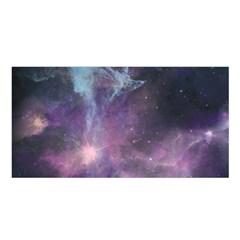 Blue Galaxy  Satin Shawl