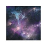 Blue Galaxy  Small Satin Scarf (Square)  Front