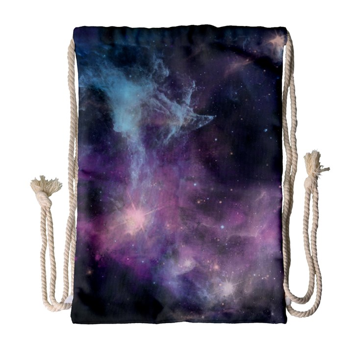 Blue Galaxy  Drawstring Bag (Large)