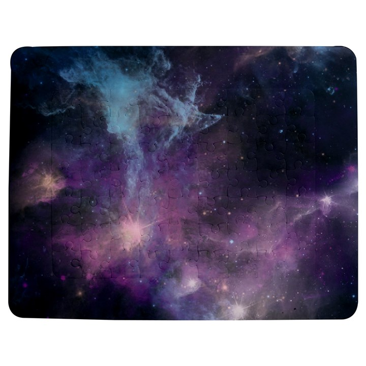 Blue Galaxy  Jigsaw Puzzle Photo Stand (Rectangular)