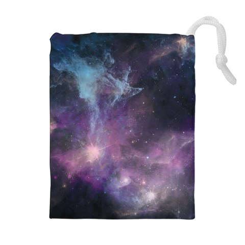 Blue Galaxy  Drawstring Pouches (Extra Large)