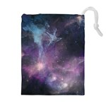 Blue Galaxy  Drawstring Pouches (Extra Large) Front