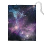 Blue Galaxy  Drawstring Pouches (XXL) Front