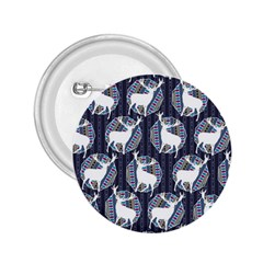 Geometric Deer Retro Pattern 2.25  Buttons