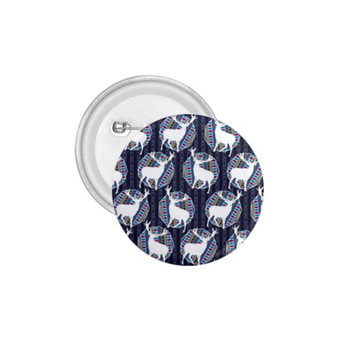 Geometric Deer Retro Pattern 1.75  Buttons