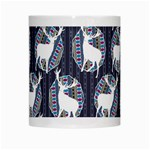 Geometric Deer Retro Pattern White Mugs Center