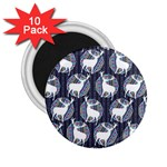 Geometric Deer Retro Pattern 2.25  Magnets (10 pack)  Front