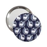 Geometric Deer Retro Pattern 2.25  Handbag Mirrors Front