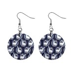 Geometric Deer Retro Pattern Mini Button Earrings Front