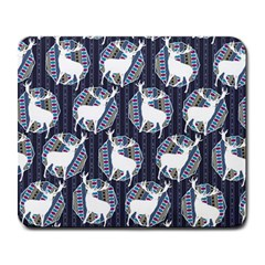 Geometric Deer Retro Pattern Large Mousepads