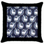 Geometric Deer Retro Pattern Throw Pillow Case (Black) Front
