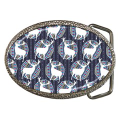 Geometric Deer Retro Pattern Belt Buckles