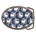 Geometric Deer Retro Pattern Belt Buckles Front