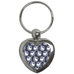 Geometric Deer Retro Pattern Key Chains (Heart)  Front