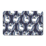 Geometric Deer Retro Pattern Magnet (Rectangular) Front